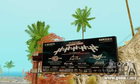 Alternativa Trimestre para GTA San Andreas sucesivamente de pantalla
