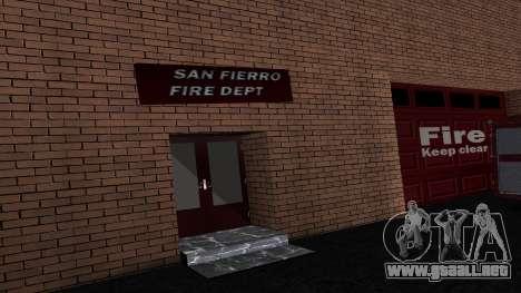 Updated San Fierro Fire Dept para GTA San Andreas segunda pantalla