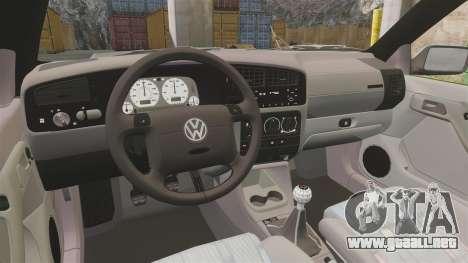 Volkswagen Golf MK3 Harlequin para GTA 4 vista hacia atrás