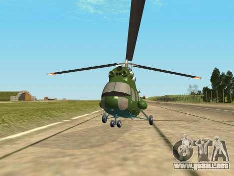 Mi 2 militares para GTA San Andreas vista posterior izquierda