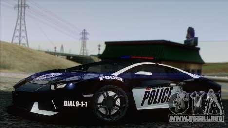 Lamborghini Aventador LP 700-4 Police para GTA San Andreas