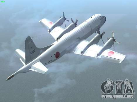 Lockheed P-3 Orion FAJ para GTA San Andreas vista hacia atrás