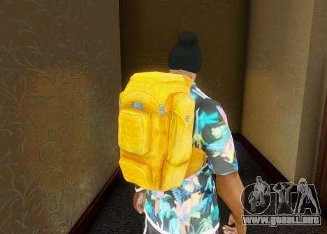 En la mochila de el Estado de Descomposición para GTA San Andreas tercera pantalla