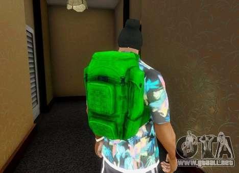 En la mochila de el Estado de Descomposición para GTA San Andreas quinta pantalla