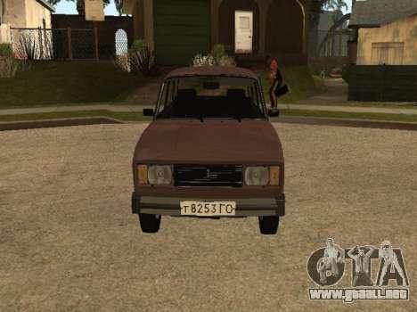 VAZ 2105 versión temprana para GTA San Andreas left