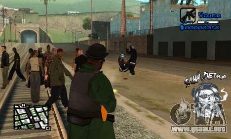 C-HUD Tawi Detka para GTA San Andreas sucesivamente de pantalla