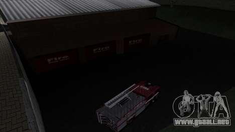 Updated San Fierro Fire Dept para GTA San Andreas tercera pantalla