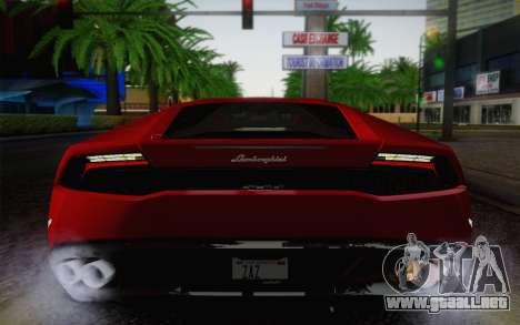 Lamborghini Huracan 2013 para vista lateral GTA San Andreas