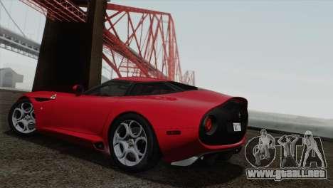 Alfa Romeo Zagato TZ3 2012 para la visión correcta GTA San Andreas