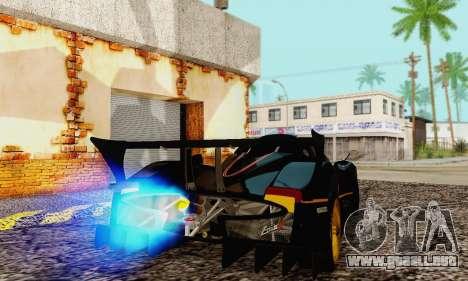 Pagani Zonda Type R Black para la visión correcta GTA San Andreas