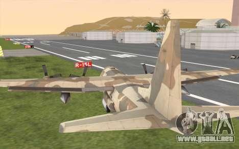 C-130H Hercules para vista lateral GTA San Andreas