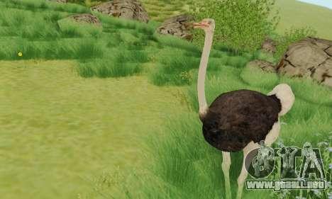 Ostrich From Goat Simulator para GTA San Andreas segunda pantalla