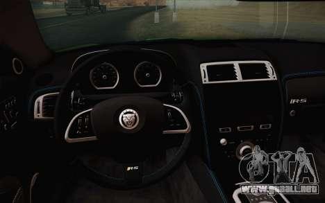 Jaguar XKR-S GT 2013 para GTA San Andreas vista hacia atrás