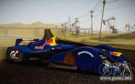 GT Red Bull X10 Sebastian Vettel para la visión correcta GTA San Andreas