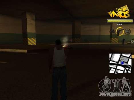 Vagos Gang HUD para GTA San Andreas tercera pantalla