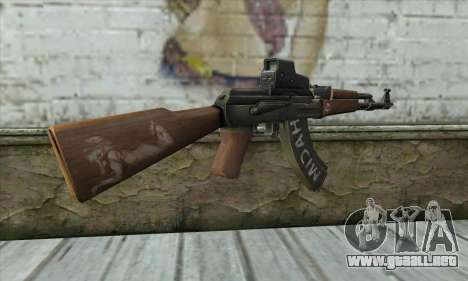 Point Blank AK47 Elite para GTA San Andreas segunda pantalla