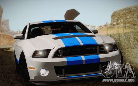Ford Shelby GT500 2013 para GTA San Andreas left