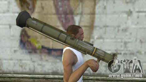 AT4 Rocket Launcher para GTA San Andreas tercera pantalla