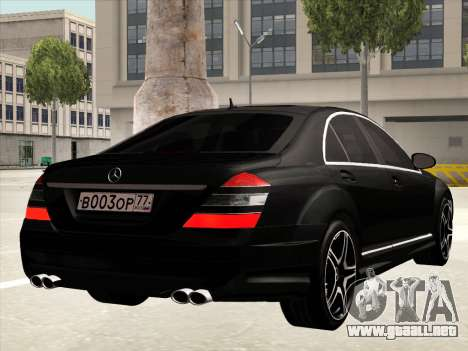 Mercedes-Benz S65 AMG para GTA San Andreas left