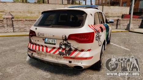 Audi Q7 FCK PLC [ELS] para GTA 4 Vista posterior izquierda