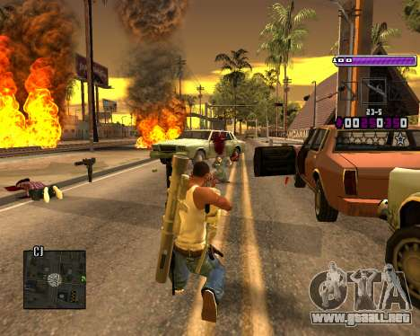 C-HUD Lite v3.0 para GTA San Andreas tercera pantalla