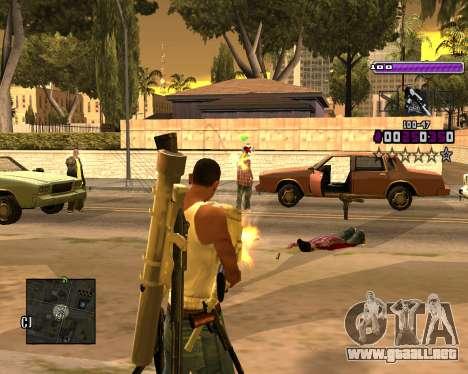 C-HUD Lite v3.0 para GTA San Andreas segunda pantalla