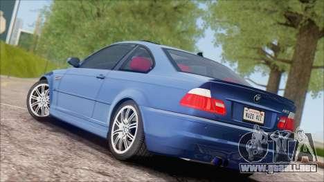 BMW M3 E46 2002 para la visión correcta GTA San Andreas