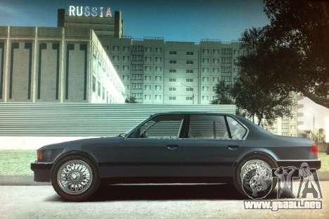 BMW 735iL e32 para GTA 4 left