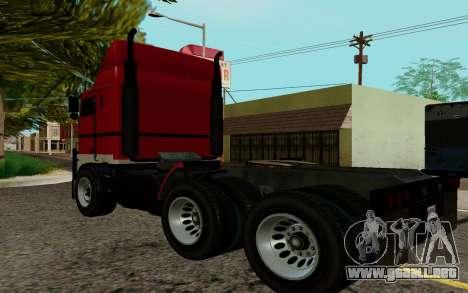 JoBuilt Transportista Fixet из GTA 5 para GTA San Andreas left