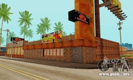 La nueva textura pizzerías y comodidades a Engañ para GTA San Andreas séptima pantalla