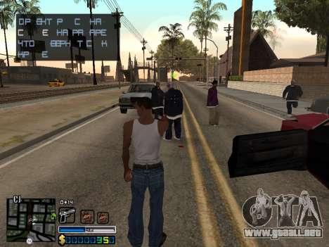 C-HUD By Stafford para GTA San Andreas segunda pantalla