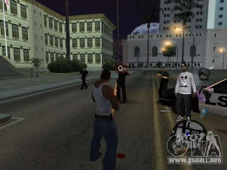 C-HUD Ballas para GTA San Andreas quinta pantalla