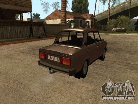 VAZ 2105 versión temprana para GTA San Andreas vista posterior izquierda