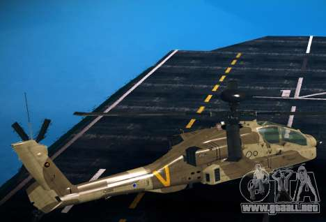 AH-64 Longbow Apache para GTA San Andreas left