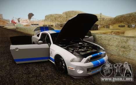 Ford Shelby GT500 2013 para visión interna GTA San Andreas