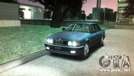 BMW 735iL e32 para GTA 4 visión correcta