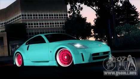 Nissan 350Z Minty Fresh para visión interna GTA San Andreas