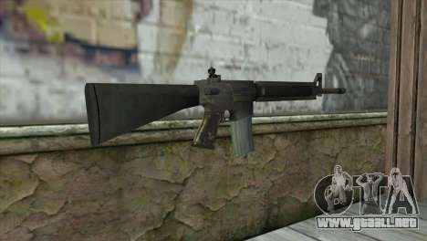 M16A4 Assault Rifle para GTA San Andreas segunda pantalla