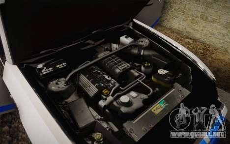 Ford Shelby GT500 2013 para la vista superior GTA San Andreas