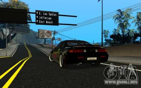 Nissan Silvia S14 Monster Energy KENDA Tire para GTA San Andreas vista posterior izquierda