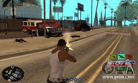 C-HUD Rainbow para GTA San Andreas quinta pantalla