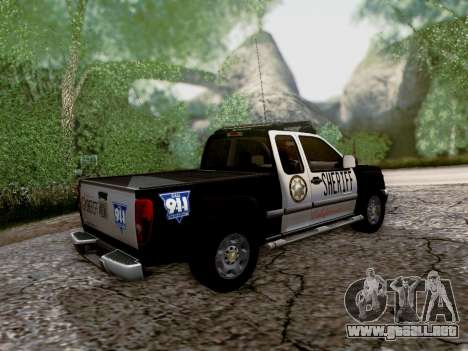 Chevrolet Colorado Sheriff para la vista superior GTA San Andreas