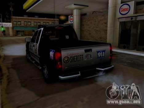 Chevrolet Colorado Sheriff para las ruedas de GTA San Andreas