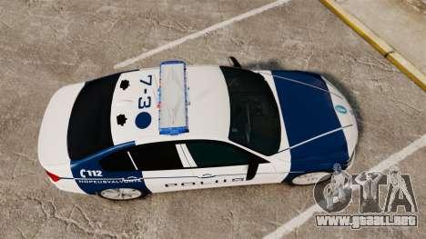 BMW F30 328i Finnish Police [ELS] para GTA 4 visión correcta