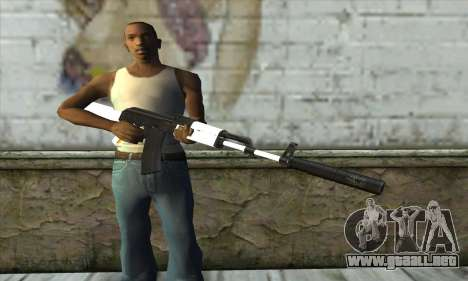 Golden AK47 para GTA San Andreas tercera pantalla