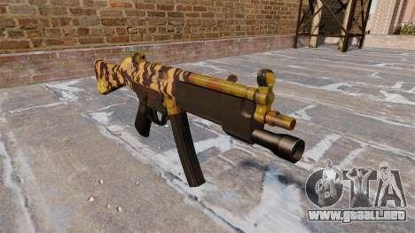 El subfusil HK MP5 Caída Camuflaje para GTA 4