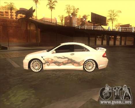 Mercedes CLK 500 из NFS most Wanted para GTA San Andreas vista posterior izquierda
