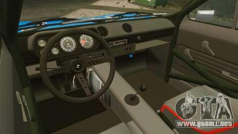 Ford Escort MK1 FnF Edition para GTA 4 vista hacia atrás