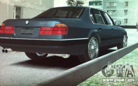 BMW 735iL e32 para GTA 4 Vista posterior izquierda