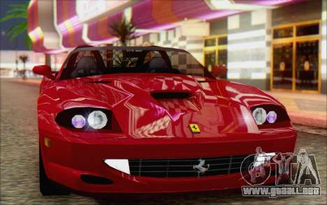 Ferrari 550 Barchetta para GTA San Andreas vista posterior izquierda